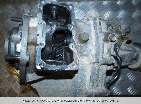 Раздаточный редуктор КПП (раздатка) на Hyundai Galloper II