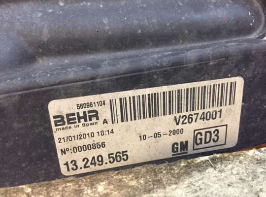 купить Диффузор (кожух) вентилятора радиатора на Opel Corsa D