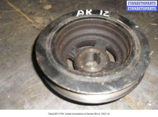 Шкив коленвала на Nissan Micra (K12)