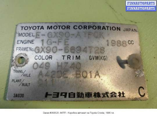 АКПП - Коробка автомат на Toyota Cresta GX 90